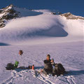 Znünihalt auf dem Sabbione-Gletscher