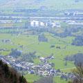 Sennwald im Rheintal: Sichtbar ist das Areal der Brusa Elektronik AG und der Verdunova AG