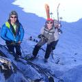 Alpiner Uebergang auf die Nordseite