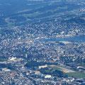 Klare Sicht auf die Stadt Luzern und....