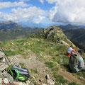 Gipfelrast auf dem Camoghè