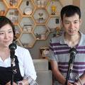 おわりに第71回放送で特集したご主人の山咲光一さんにも出演いただき、珪藻土(けいそうど)塗り壁の話を伺いました。