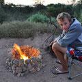 auf dem Campingplatz Baird Bay - Lucas Feuerstelle