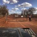 Gate nach Sheep Creek