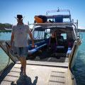 Shute Harbour (Hafen von Airlie Beach) - unser Boot wird beladen