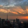 Sunset über Manhattan und New Jersey - Sicht vom Rockefeller Center