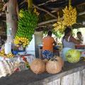 Mit dem Velo unterwegs: Ostküste, Früchtestand mit Drinks