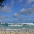 Wellen an der 'Grand Anse'