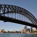 Opera und Harbour Bridge von der Fähre (Circular Quay-Darling Harbour) aus