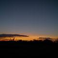 die Sonne geht unter auf dem Weg zurück nach Yowah