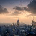 Sunset über Manhattan - Sicht vom Rockefeller Center