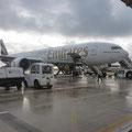 Flughafen Mahé - unser Flieger