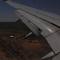 Landeanflug auf Alice Springs