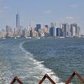 Skyline von der Staten Island Ferry aus