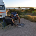 auf dem Campingplatz Baird Bay