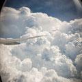 Gewitterwolken vor Singapur