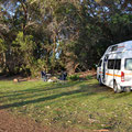 Kangaroo Island Caravan Park - unsere Campingparzelle