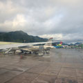 Flughafen Mahé - vor dem Start