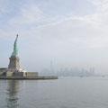Von der Fähre aus: Lady Liberty