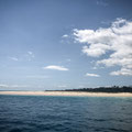 Moreton Island im Hintergrund