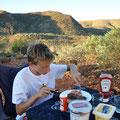 Bushcamp Ridgetop mit Aussicht über das Tal