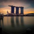 Marina Sands - von der Esplanade aus - Sonnenuntergang