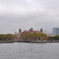 Anfahrt auf Ellis Island