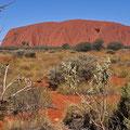 Uluru - von der Sunset Vewing Area aus