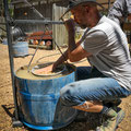 Saphire waschen in Rubyvale