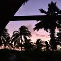 Aussicht am Abend von unserem Beach-Chalet
