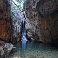 El Questro Gorge - Zuhinterst in der Schlucht ist ein Wasserfall