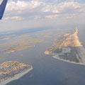 Über Long Island, kurz vor NY