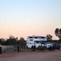 Bushcamp Rainbow Valley am Abend