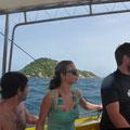 Auf dem Schiff - mit 8 anderen Tour-Teilnehmern