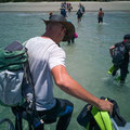 nach dem Schnorcheln - zurück beim Coconut Beach