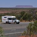 Unterwegs Richtung Uluru - Mount Connor