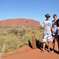 Uluru - von der Sunset Vewing Area aus - Fotoshooting