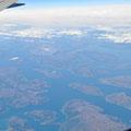 Über der Küstenlandschaft Neufundlands