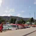 La Passe, Hafen - vor der Fährüberfahrt nach Praslin