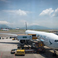 Hongkong Airport - warten auf den Anschlussflug nach Singapur