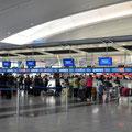 Check-in am Flughafen New York JFK