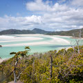 Hill Inlet - WHill Inlet, Whitsunday Island - Aussicht vom Lookouthitehaven Beach - Lookout