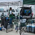 beim Metlife Stadium, New Jersey - Parkplatz-Party