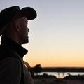auf dem Campingplatz Baird Bay - Sonnenuntergang über der Bucht