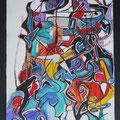 Nr. 041 - 35x47, Acryl auf Leinwand