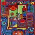 Nr. 017 - 40x60, Acryl auf Leinwand