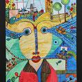 Nr. 001 - 50x70, Acryl auf Leinwand