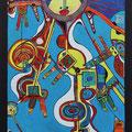 Nr. 004 - 50x70, Acryl auf Leinwand