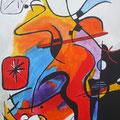 Nr. 029 - 35x47, Acryl auf Leinwand