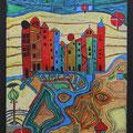 Nr. 002 - 50x70, Acryl auf Leinwand